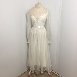 Vintage Long Sleeve Wedding Gown